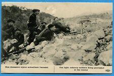 CPA: Nos chasseurs alpins mitraillant l'ennemi  / Guerre 14-18