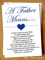Greeting Card Dad Birthday Fathers Day Christmas A Father Means Love Cute Kids