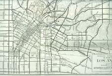 1930s Road Map In And Out Of Los Angeles AAA