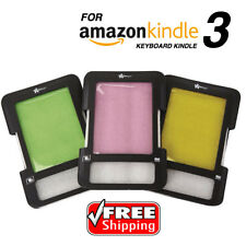 Tinted Screen Amazon Kindle 3 Keyboard Folio Case Cover Wallet Holder CREATIVE