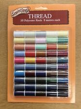 Polyester Thread Mini 50 x 9m - Reels 1in - 2.5cm approx - Ex Woolworths Stock