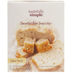 1 box Of Tastefully Simple Beer Bread Value Pack 3 packages New Sealed 3 Mixes