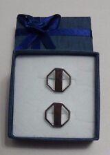 Tiffany & Co RARE Silver Octagon Cufflinks Cuff Link