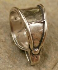 Sterling Silver Bail, Handcrafted Artisan Large Jewelry Bale, Big Bails