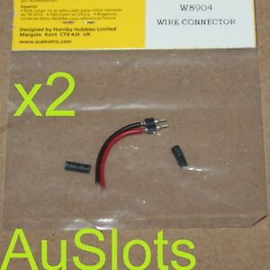 Scalextric W8904 **x2 Packets!** 2 Pin Wire Connector for motor terminals