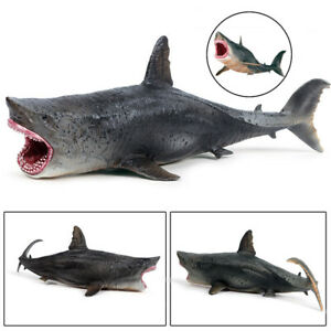 Realistic Megalodon Shark Ocean Animal Model Toy Education Figure Kids Xmas Gift