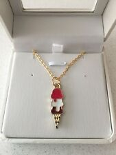 Ice Cream 18k Gold Plated Necklace