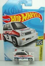 HOT WHEELS HONDA CITY TURBO II WHITE HW SPEED GRAPHICS 10/10  MINT LONG CARD