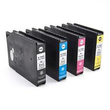 4x Cartucho de tinta negro + color para Epson WorkForce Pro WF-8090 DW Series