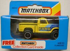 MATCHBOX #53 Flareside Pickup, Yellow Body, Black Base, 460 Ford Tampo