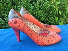 SALE @ POETIC LICENCE Irregular Choice LEATHER LIZARD High Heel Shoes Women Sz 8