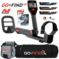 Minelab GO FIND 22 Metal Detector with Black Transport Carry Bag and Finds Pouch