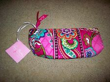 NWT Vera Bradley Brush and Pencil Cosmetic in Pink Swirls Make Up