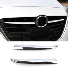 For Mazda 3 Axela Chrome Front Mesh Hood Grille Grill Cover Trim Molding Garnish