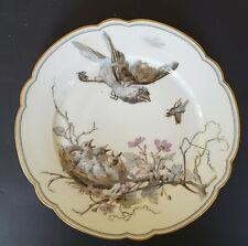 A 19th Century Limoges Porcelain Plate Depicting Birds & Chicks