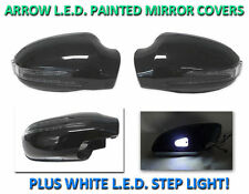 USA 98-2002 W208 CLK Arrow LED Side Painted Black Mirror Cover+LED Step Light