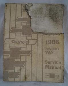 Vintage 1986 Chevrolet Astro Furgoneta Servicio Manual