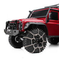 1.9inch Tires Snow Chain for 1/10 RC Rock Crawler Axial SCX10 90046 TRX4 Traxxas