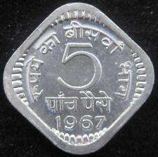 India 5 Paise 1967 Calcutta BU
