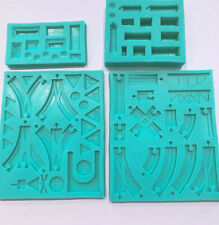 Train series Mould Set Track signpost Silicone mold
