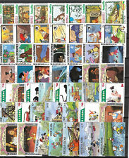 WALT DISNEY CARTOON STAMPS COLLECTION PACKET of 50 Different Stamps MNH (Lot 1)