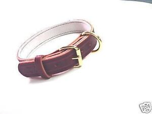 1 1/4 LEATHER COLLAR POLICE K9 SCHUTZHUND CUSTOM MADE SIZE COLOR ETC