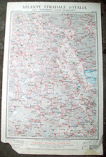 1920 CARTA GEOGRAFICA SIENA MONTE AMIATA TOURING. ORVIETO, MONTEPULCIANO, AREZZO
