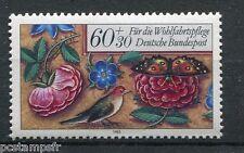 ALLEMAGNE FEDERALE, 1985, timbre 1092, FLEURS OISEAU et PAPILLON, neuf**