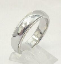 TIFFANY & Co. Platinum 6mm Milgrain Wedding Band Ring 8 $2,225