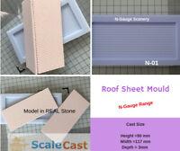 N-Gauge ROOF SHEET Mould for Model Railway scenery - N01