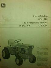 John Deere 140 Hydro Garden Tractor Parts Manual Lawn Riding 66pg Patio sn-30,00