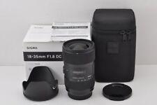SIGMA Art 18-35mm F1.8 DC HSM AF Lens for Sony Minolta Alpha Mount #170920b