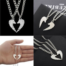 2pc Charm Couples Silver Plated Wolf Pendant Jewelry Best Friend Necklace