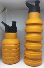 Hervidor de agua de silicona deportivo Retráctil Plegable Para Senderismo Para Botella De Agua-Nuevo
