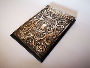 Silver Antique Note Pad Holder