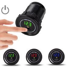 Digital LED DC 12-24V Voltage Meter Voltmeter Switch Alarm for Car Motorcycle