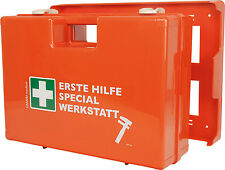 """VERBANDSKASTEN """"SPEZIAL WERKSTATT"""" Erste Hilfe Koffer DIN 13157 First Aid"""