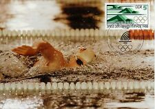 CARTE POSTALE MAXIMUM / GERMANY ALLEMAGNE SPORT / OLYMPIADE 1988 / NATATION