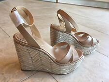 NEW, Vince Camuto leather platform wedges  SZ 9M / EU 39,beige, run big