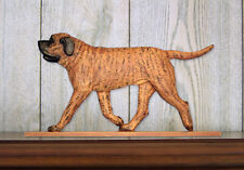 Mastiff Dog Figurine Sign Plaque Display Wall Decoration Apricot Brindle