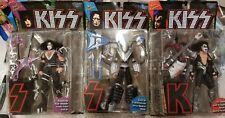 McFarlane Toys Kiss Gene Simmons, P Stanley, & Ace, Action Figures lot of 3. (3A