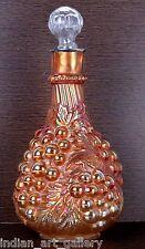 Uncommon Rare Genuine Antique Unique Glass Silver Cap Decanter W/Stopper. i31-49