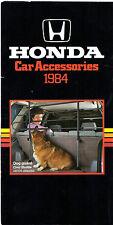 Honda Accessories 1984 UK Market Foldout Brochure Jazz Civic CRX Shuttle Accord