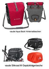 vaude Aqua Back SINGLE Radtasche indian red + Gepäckträgertasche Silkroad M