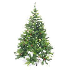 1.5M 5FT Christmas Tree Snowflake Pine Cones Cherry Pretty Ornament Xmas Tree BG