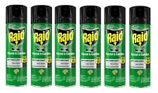 6 RAID Bug Spray House and Garden 11 oz. Roaches Flies Spiders Insect Killer