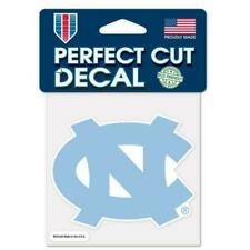 North Carolina Tarheels Auto Decals 2 Pack 4 by 4 Each
