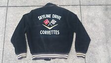 Vtg Car Club Skyline Drive Corvettes Chain Stitched Corduroy Racing Jacket NHRA