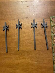 Lego Spear Weapon Gray 4 SIDED Major Spear Ninjago Skeleton Castle Lot of 4