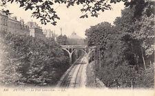 AMIENS 140 LL le pont lemercier chemin de fer écrite 1915